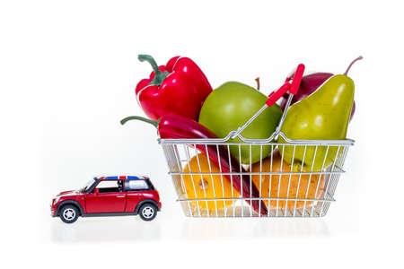 pushcart: United Kingdom car and shopping basket