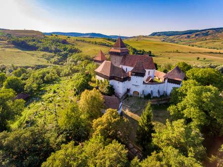 Viscri Church Transylvania Romania 写真素材