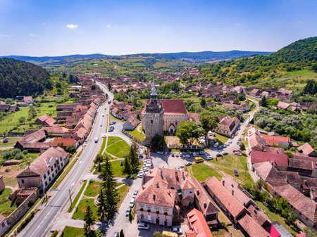 Saschiz saxon village in Transylvania, Romania