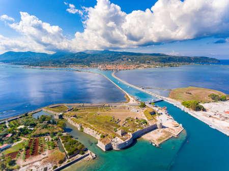 Lefkada Santa Maura Castle birds eye view