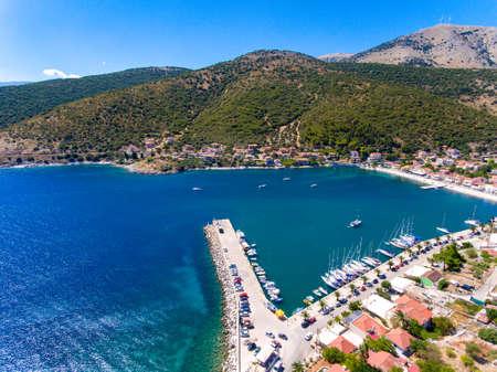 Cephalonia Island small port Agia Effimia yachts harbour Stock Photo