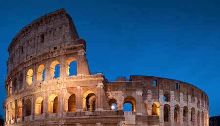 Colosseum Night View in Rome, Italy