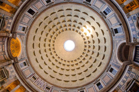 The Dome of the Pantheon in Rome, Italy