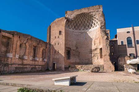 Il Tempio di Venere (Tempio di Venere), Roma, Italia Archivio Fotografico