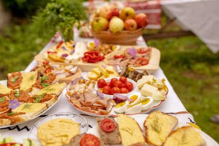 Homemade Moldova Food brunch