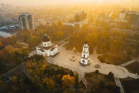 Chisinau Republic of Moldova sunrise in Cathedral Park 新聞圖片