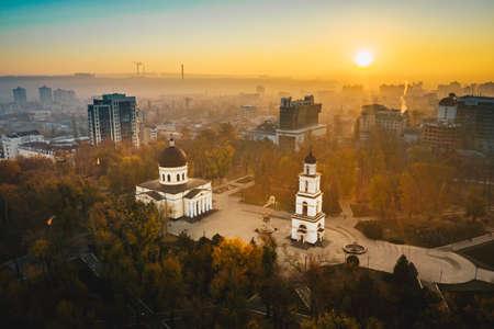 Sunrise in Chisinau Moldova Republic 版權商用圖片