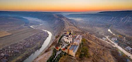Old Orhei panorama, Republic of Moldova, aerial view