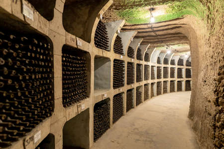 Milestii Mici, Moldova - November 2018: The biggest winery in the world the Milestii Mici Winery in Moldova Republic near Chisinau