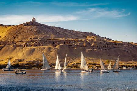 Luxor sunset on the Nile River Egypt