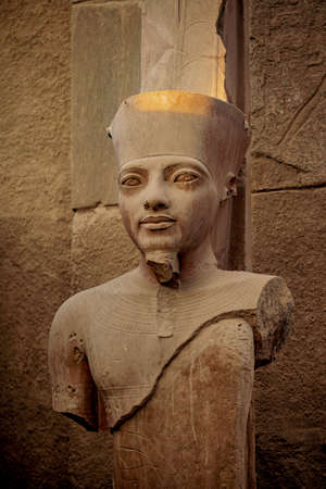 Ancient Karnak statue of a Pharaoh Stock Photo
