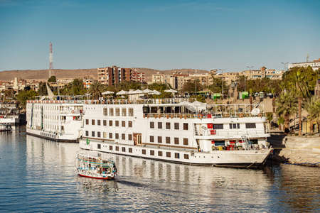 Nile River Cruise Ship in Luxor Egypt