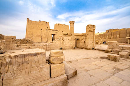 Ruins of Edfu Temple of Horus in Idfu Egypt Editorial