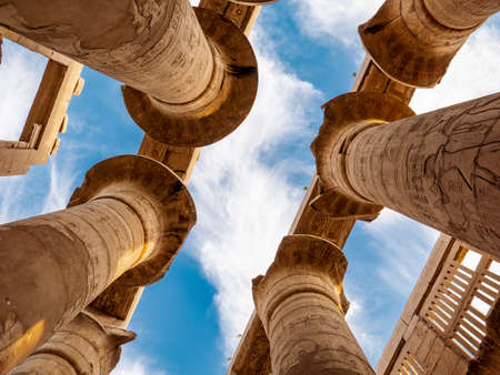 The ancient ruins of the Karnak temple in Egypt, Luxor Stock Photo