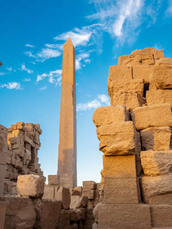 Ruins of ancient Karnak in the Karnak Temple Complex in Egypt