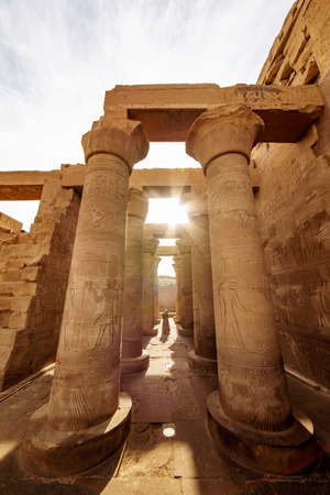 Egyptian civilization temple of Kom Ombo known as Krokodilopolis near Aswan on the river Nile Stok Fotoğraf
