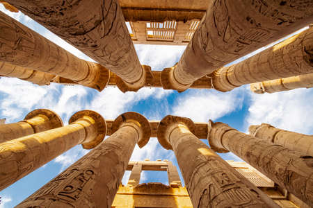 Karnak Temple the second most visited tourist attraction in Egypt after the Great Pyramids Stok Fotoğraf