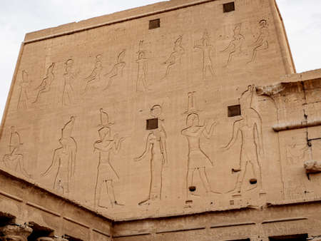 The thick walls of Temple of Horus also known as Temple of Edfu  Idfu