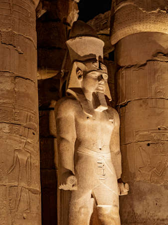 The statue of King Ramses II or Ramses the Great in Luxor Temple Egypt