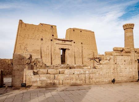 Idfu Temple or Edfu Temple of Horus in Egypt