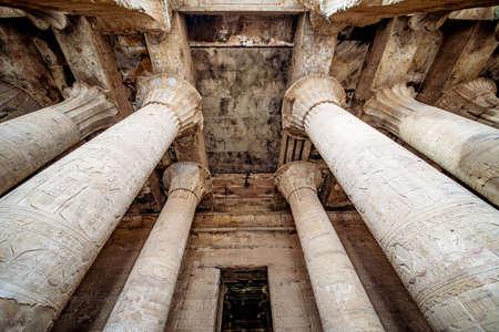 Colonnade at Horus Temple in Edfu Idfu Egypt