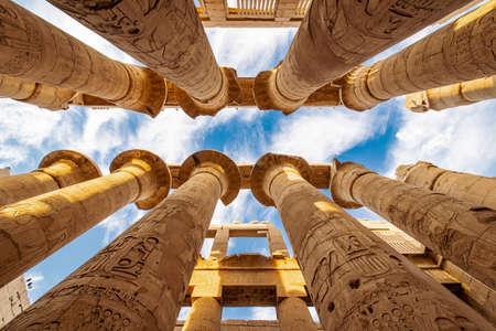 Columns of Karnak Temple in Egypt Reklamní fotografie