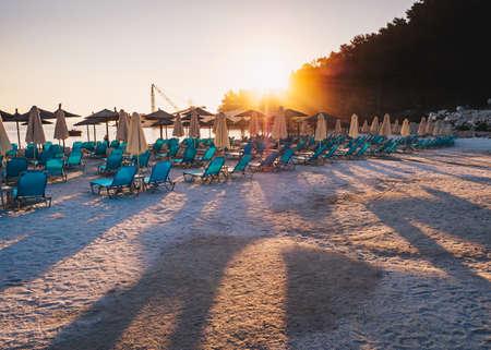 Sunrise at Porto Vathy, Greece Stock Photo