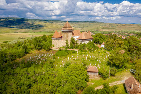 One of the most important tourists attraction in Romania the fortified church in Viscri, Transylvania
