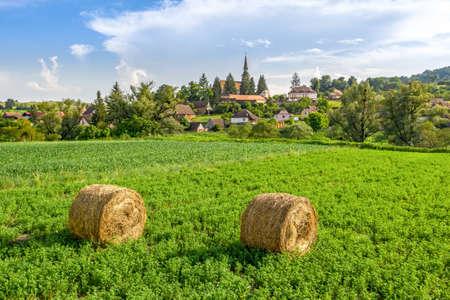 Summer in Crit, Transylvania, Romania. Traditional Saxon Village of the peasants