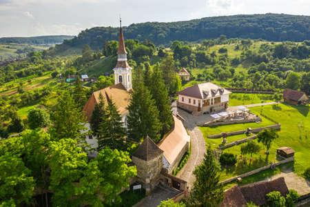 Saxon village Crit, also known as Deutsch Kreuz in the rural Transylvania, Romania