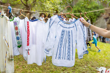 The traditional Romanian folklore blouse called IE and weared by both men and women