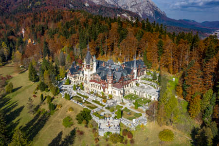 Peles Castle, Sinaia, Romania. Summer residence of the kings of Romania