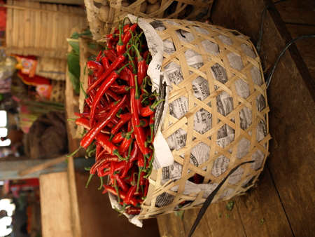 asien: Chillies on an Asien Market