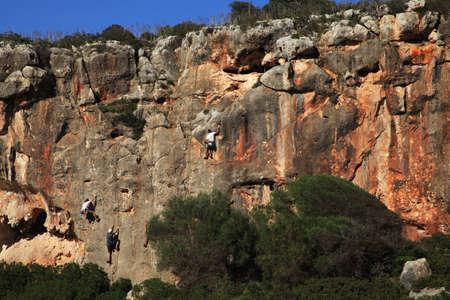 mallorca: Climbers in Mallorca