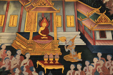Thai Temple Standard-Bild