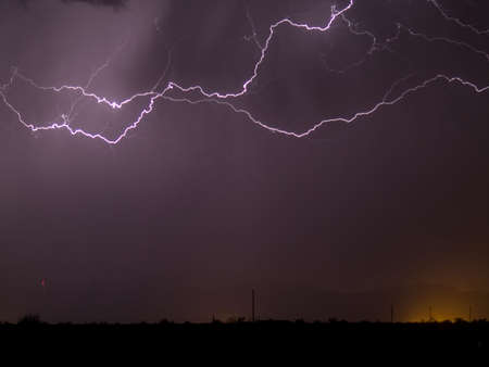 A late night storm rolling through Arizona in winter. Stock Photo - 6687862