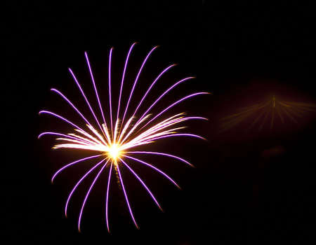 spokes: A fireworks display that resembles the spokes of a wheel.