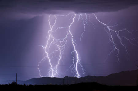monsoon: The first in a series of late night lightning storms captured during the Arizona Monsoon season.