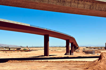 public works: A section of the Loop 303 Bridge Interchange where it will meet the I-10 in Arizona nearing completion  Because this is a public works project paid for by public tax money no property release is needed