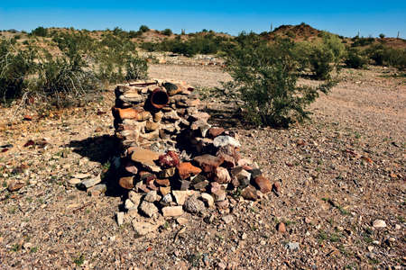 sanitarium: The remains of an old BBQ pit in the ghost town of Sundad Arizona