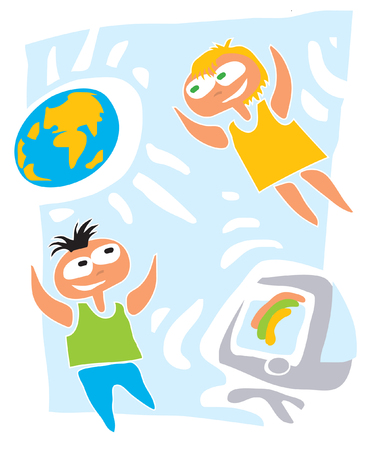 Education, travel, study. Illustration. Illustration