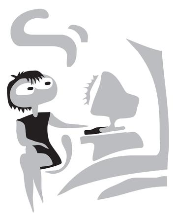 Education, travel, study. Illustration. Ilustrace