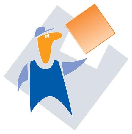 The builder. Image for logo or illustrations Logo