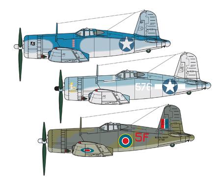Aircraft color scheme. Vektorové ilustrace