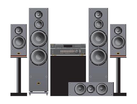 Audio- und Heimkomponenten Vektorgrafik