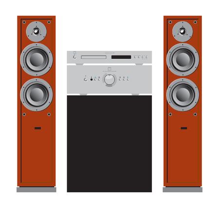 Audio & home components Vektorgrafik
