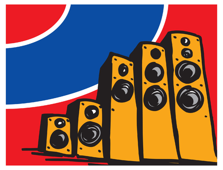 Audio & home theater components. Illustration