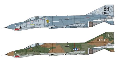 Schéma de couleurs de l'avion. Illustration Vecteurs