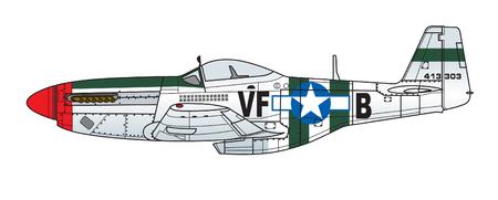 Kleurenschema van het vliegtuig. Illustratie