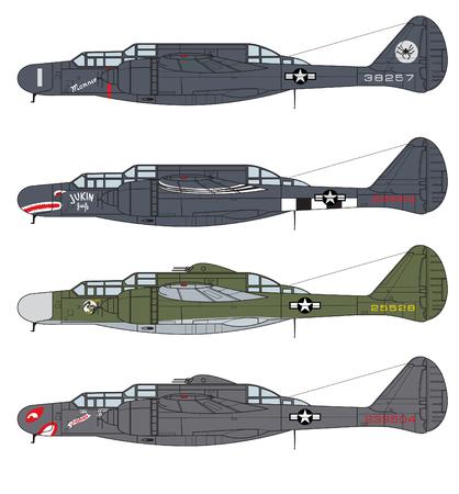 Aircraft color scheme. Illustration Illusztráció